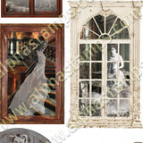 Ghost in the Window Collage Sheet
