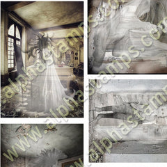 Ghosts in Abandoned Rooms Collage Sheet