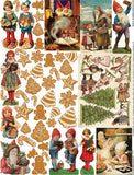 Gingerbread Collage Sheet