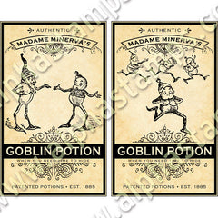 Goblin Labels Collage Sheet