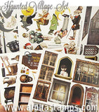 Haunted Village Collage Sheet Set