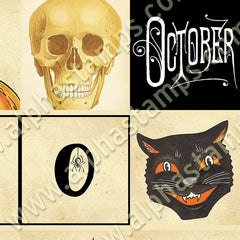 Halloween 2x2s Collage Sheet