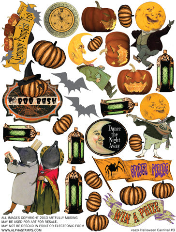 Halloween Carnival #3 Collage Sheet