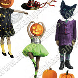 Halloween Darlings Collage Sheet