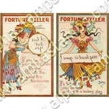 Halloween Fortune Teller Cards Collage Sheet