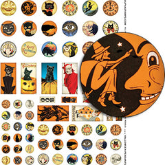 Halloween Pendants Collage Sheet