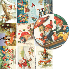 Happy Gnome ATCs Collage Sheet