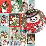 Happy Snowmen Collage Sheet