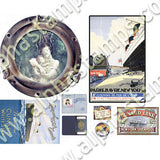 Haunted Ship Travel Collage Sheet