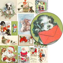 Holiday Animals Collage Sheet