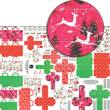 Holiday Bags, Tags & Boxes Collage Sheet