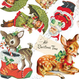 Holiday Ornament Figures Collage Sheet
