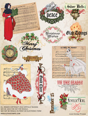 Holiday Phrases Collage Sheet