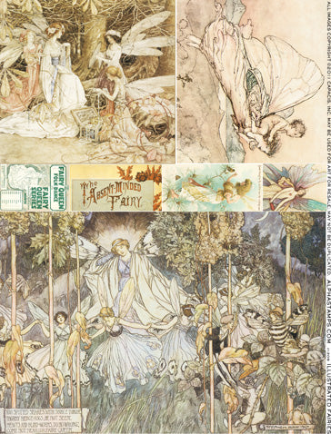 Illustrated Fairies Collage Sheet