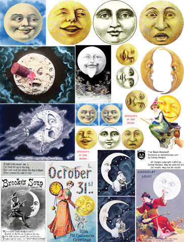 I've Been Mooned Collage Sheet