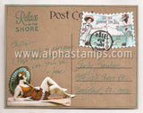 Beachy Postage & Words Collage Sheet