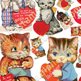 Kitty Cat Valentines Collage Sheet