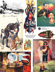 Krampus Collage Sheet