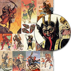 Krampus Postcards Collage Sheet