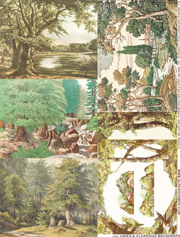 Lakes and Clearings Backdrops Collage Sheet