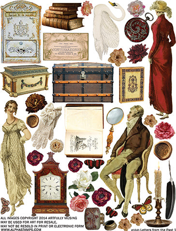 Letters from the Past 1 Collage Sheet