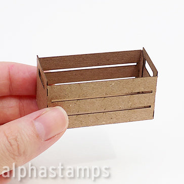 Tiny Chipboard Crates - Set of 2