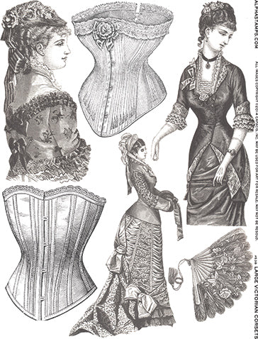 Large Victorian Corsets Collage Sheet