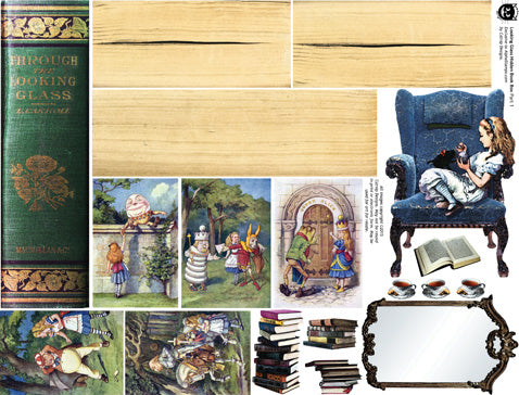 Looking Glass Book Box Collage Sheet Part 1