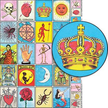 Loteria Matchbox Shrines Collage Sheet