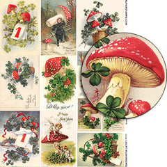 Lucky Mushrooms Collage Sheet