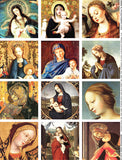Madonna and Child Collage Sheet