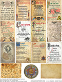 Magical Book Pages Collage Sheet