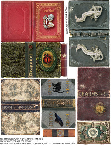 Magical Books #2 Collage Sheet