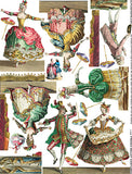 French Ballet Costumes Collage Sheet