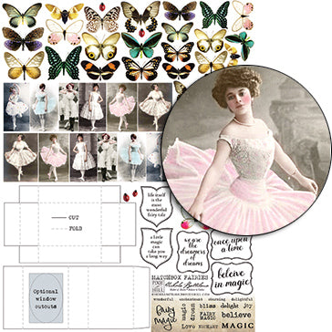 Matchbox Fairies Collage Sheet