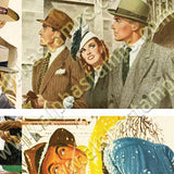 Men in Hats ATCs Collage Sheet