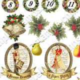 Mini 12 Days of Christmas Collage Sheet