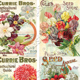 Mini Floral Seed Catalog Covers Collage Sheet