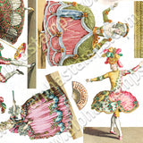 Mini French Ballet Costumes Collage Sheet