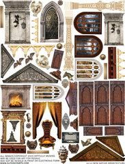 Mini Gothic Architecture Collage Sheet