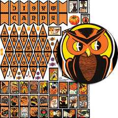 Mini Halloween Banners Collage Sheet