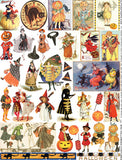 Mini Halloween Costumes Collage Sheet