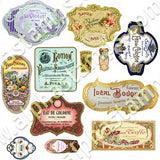 Mini Perfume Labels Collage Sheet