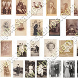 Miniature Cabinet Card Photos Collage Sheet