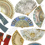Miniature Fans & Gloves Collage Sheet