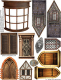 More Old Windows Collage Sheet