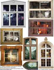 More Spooky Windows Collage Sheet
