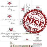 Notes from the North Pole Collage Sheet Set