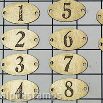 Faux Metal Number Plates