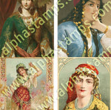 Odalisque ATCs Collage Sheet